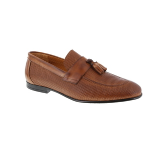 Green Step mocassin cognac