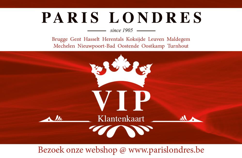 Paris Londres klantenkaart - Voorkant